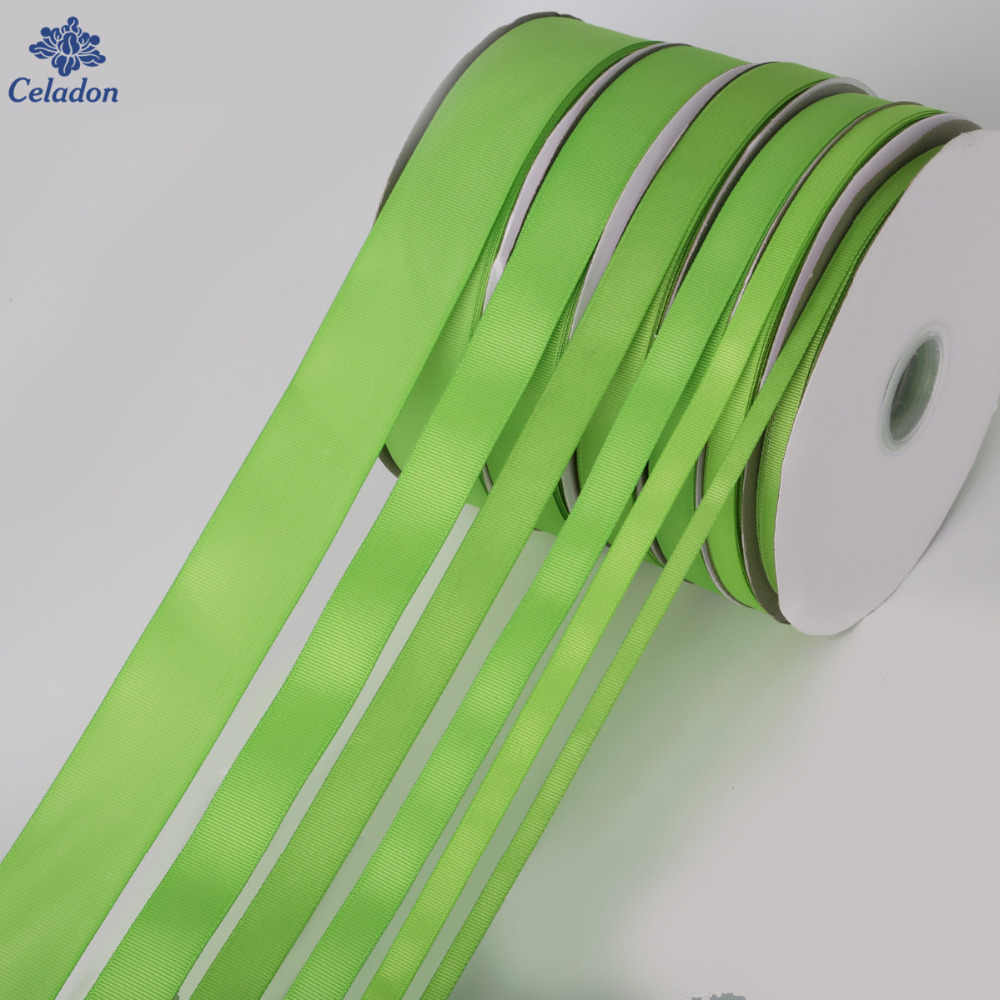 5 Yards/lot Width 7mm 10mm 15mm 20mm 25mm 38mm Peridot Color Grosgrain Ribbon Wholesale gift wrap decoration Christmas ribbons