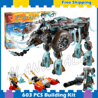 603pcs Maula's Ice Mammoth Stomper Detachable Flyer 10297 Model Building Blocks Kids Children Gifts sets Compatible with Lego