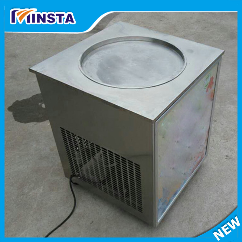 one pan fried ice cream roll machine Thailand single Flat Pan Fry Ice Cream Machine 220v 110v mixed type hot dog lolly waffle machine hot dog grill