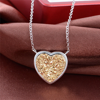 42.5CM Necklace 2016 Newest Women Heart Pendant Necklace Dia Dos Namorados Jewelry Free Shipping GW Fashion Jewelry FNET005H30