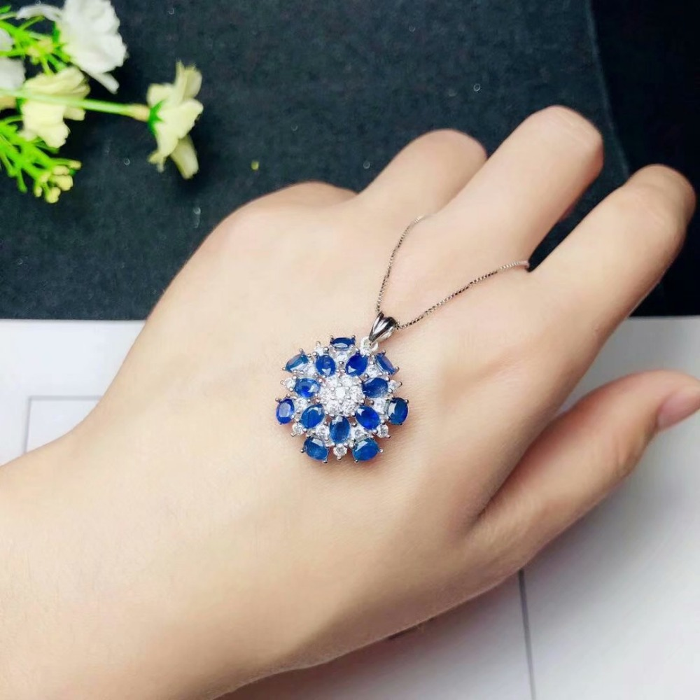 shilovem 925 silver sterling real Natural sapphire PENDANTS fine Jewelry trendy send necklace plant 3*4mm plant yhz0304098agl shilovem 925 silver sterling real Natural sapphire PENDANTS fine Jewelry trendy send necklace plant 3*4mm plant yhz0304098agl