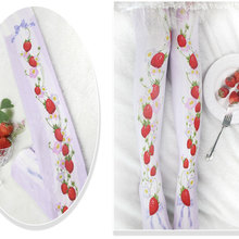 Branded Strawberry Garden & Star Printed Lolita Tights Sweet 80D Summer Pantyhose