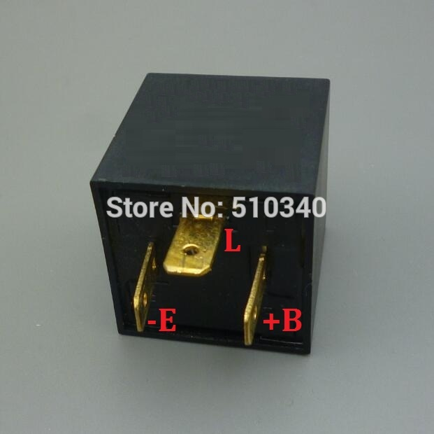 (Relé de intermitencia) 3 Pin Electronic LED Flasher Relay Tanto Para 12 v 24 v