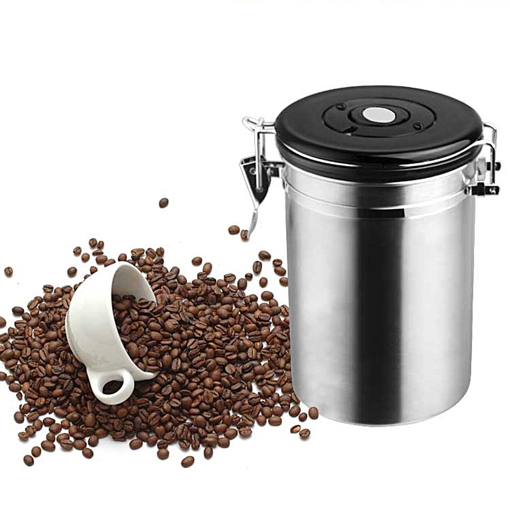 Coffee Tea Sugar Storage Tanks Sealed Cans Stainless Steel Canisters Kitchen Storage Jars 5