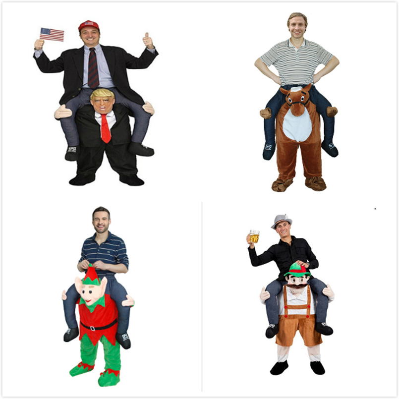 Donald Trump Pants Funny Cosplay Dress Up Ride On Me Mascot Party Costumes Carry Back Novelty Toys Halloween Party Outdoor Toys adult child novelty ride on me mascot costumes carry back fun pants christmas halloween party cosplay clothes horse riding toys