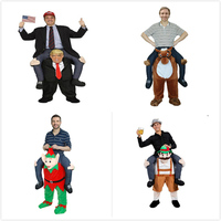 Donald Trump Pants Funny Cosplay Dress Up Ride On Me Mascot Party Costumes Carry Back Novelty Toys Halloween Party Outdoor Toys