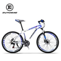EUROBIKE 21 Speed MOUTAIN BIKE Double Brake Mens Aluminium Alloy BICYCLE