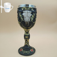 1 Pc 3D Ox Head Goblet Stainless Steel Red Wine Cup Glasses Glass Steins Halloween Party