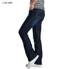2017 весна осень случайные вспышки ботинка крой мужские стрейч тонкий джинсы мужчин высокое мода мужская Жан брюки плюс Размер 34 36 38
