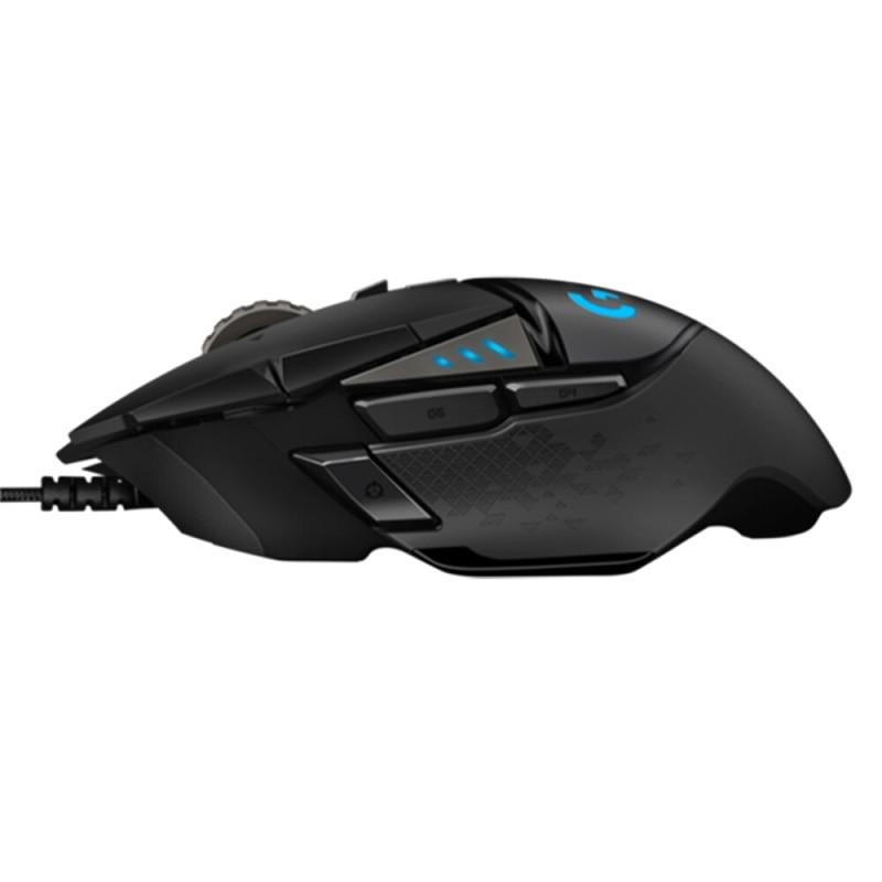 Logitech (G) G502 héro maître jeu souris mise à niveau en ligne complète héro engine 16000 DPI rvb éblouissement G502 RGB mise à niveau - 5