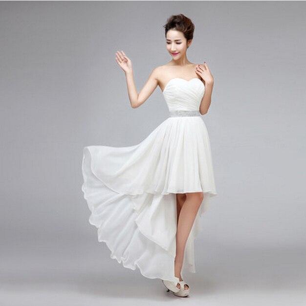 cheap modern ivory strapless bridesmaid dresses girls blue red ...