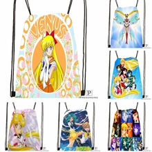 Custom Sailor Moon Dance Drawstring Backpack Bag Cute Daypack Kids Satchel Black Back 31x40cm 180531 02