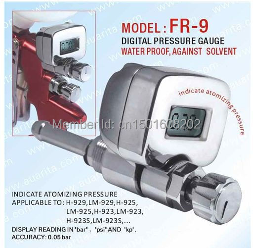 ITALCO Digital Pressure Gauge Water Proof Solvent Resistance Indicate Atomizing Pressure te5000 0 3kpa pressure gauge