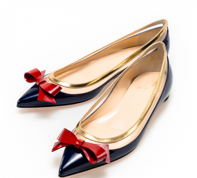best sneakers 89794 2f104 6 Colors Bowtie Red Bottom Shoes Brand Women Flats Genuine ...