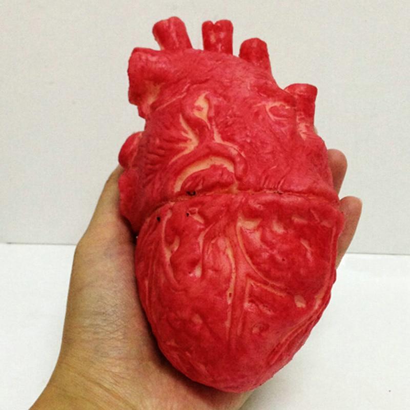 Хэллоуин Поддельные кровяное человеческое сердце зомби еда Чоп магазин часть тела органный реквизит ужасов вечерние аксессуары апрельски...