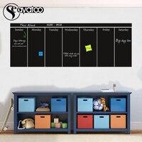 Large Week Planner Chalkboard Blackboard Vinyl Wall Decal Sticker Office Calendar Stickers 57x160cm