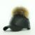 Venda quente Cap Pom pom Chapéu Do Inverno PU de Couro das Mulheres de Couro chapéu Com Bola De Pêlo Cor Doce Fêmea Viseira Equipada Senhora Feminino