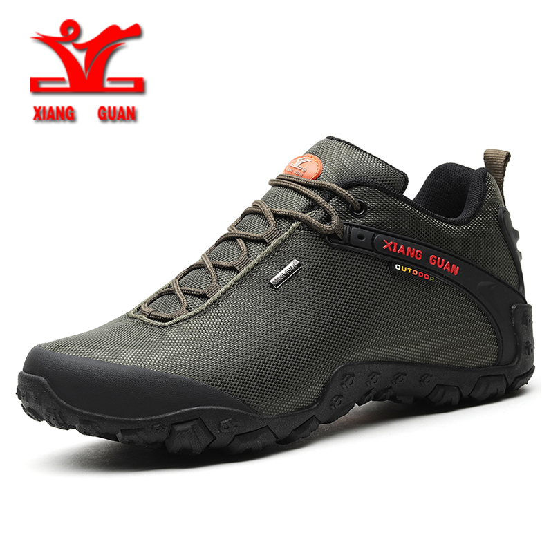 XIANGGUAN Man Hiking Shoes for Men Athletic Trekking Boots Zapatillas Sports Climbing Shoe Outdoor Walking Sneskers36-48