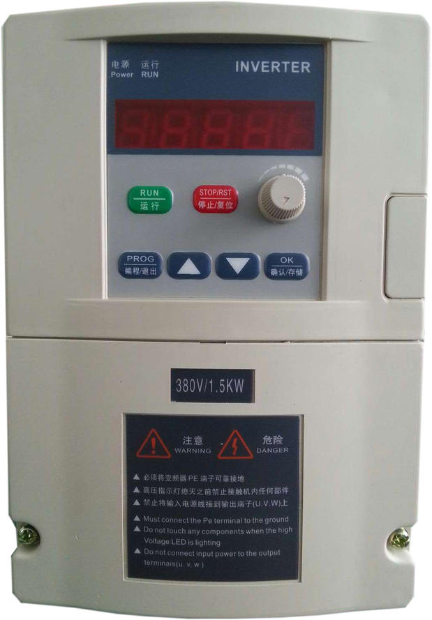 Frequency converter single phase 1.5kw 220v household electric three phase 380v vector control frequency converter 220v single phase to 220v three phase 220v 0 75kw