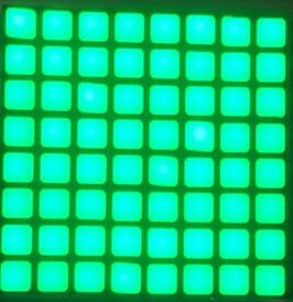 FREE SHIPPING 5PCS X 6mm 8X8 Jade Green Blue Red White Square LED Dot Matrix Digital Tube  LED Display Module 2488BGG 2488BB