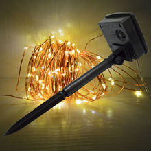 Solar Led String Light 100 Led 10m Outdoor Christmas Garlands Waterproof Copper Wire Upgrade for Wedding Party Decoration