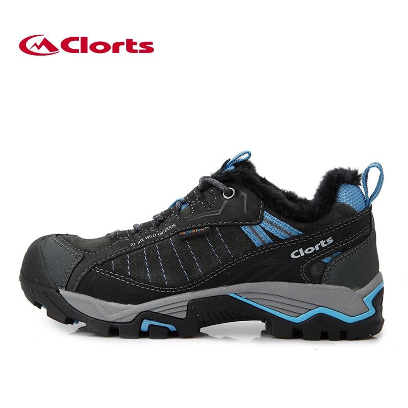 Clorts Plus Velvet Hiking Sneakers Waterproof Uneebtex Winter Boots for Men Women Warming Outdoor Shoes 3D019