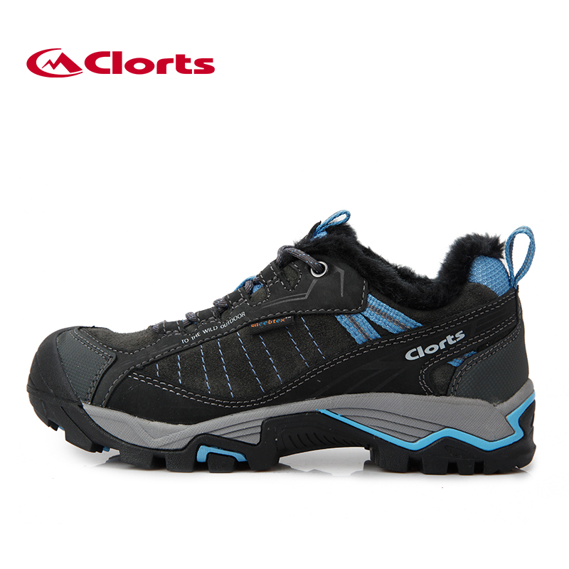 Clorts Plus Velvet Hiking Sneakers Waterproof Uneebtex Winter Boots for Men Women Warming Outdoor Shoes 3D019