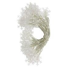 Christmas Tree Snow Flakes Led String Fairy Lights