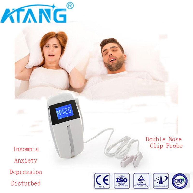 ATANG 2018 New Healthy Sleep Nurse Anti Insomnia Anxiety Depression Disturbed Migraine Aleeping Aid CES Therapy Brain Stimulator christmas promotion ces insomnia treatment no side effect therapy equipment