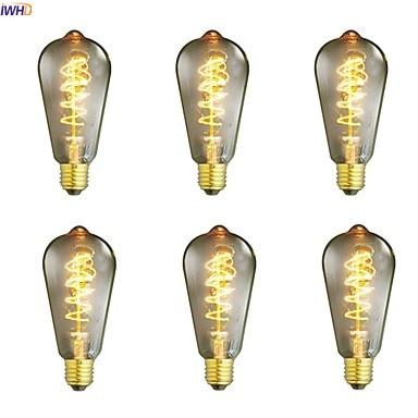 Bombillas IWHD St64, lámpara incandescente Retro de 40 W, E27, 220 V, para el hogar, Bombilla clásica de Edison de ampolla, A19, G80, St64, T45 Bombilla halógena GU10, 20W, 35W, 50W, Bombilla de gran brillo, 2800K, luces de cristal transparente de alta eficiencia, bombillas de luz blanca cálida para el hogar