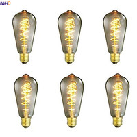 IWHD Bombillas St64 Ampul Vintage Edison Light Bulb Home Decorative 40W E27 220V Retro Incandescent Lamp A19 G80 St64 T45