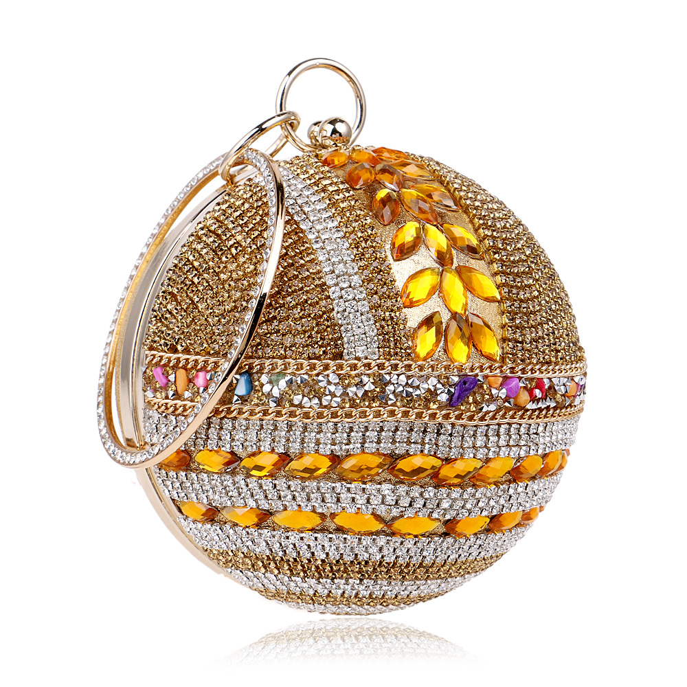 Women's Round-shaped evening bag with Bling Pearl and Rhinestone,Evening Bag микола хвильовий наречений