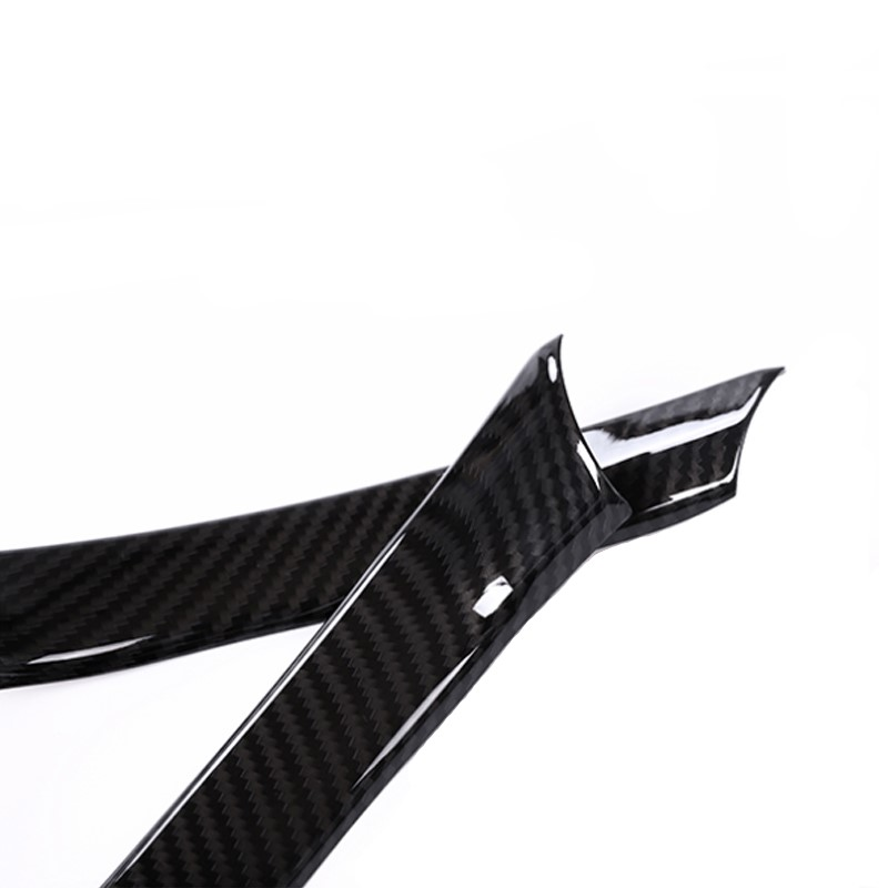 Image 3 - 2pcs Car Styling Carbon Fiber Texture Steering Wheel Grip Trim Cover for Alfa Romeo Giulia 2016 2017 2018 only-in Interior Mouldings from Automobiles & Motorcycles
