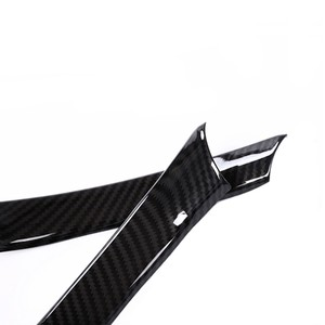 Image 3 - 2pcs Car Styling Carbon Fiber Texture Steering Wheel Grip Trim Cover for Alfa Romeo Giulia 2016 2017 2018 only