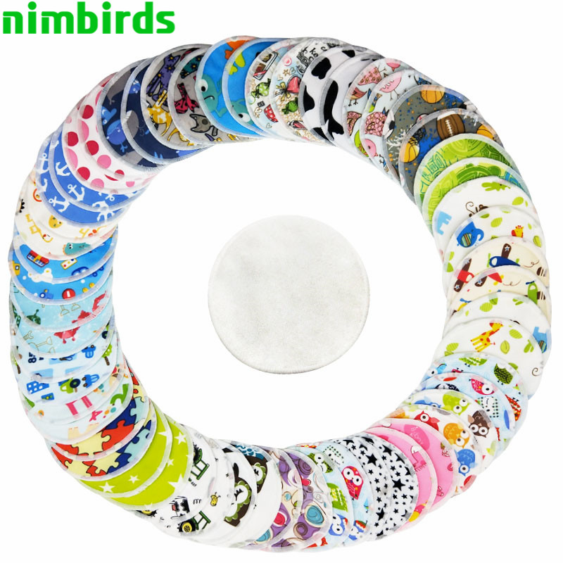 10 PCS Reusable Bamboo Breast Pad Nursing Pads For Mum ,Bamboo Material Inner Washable Waterproof Breastfeeding Nursing Pads
