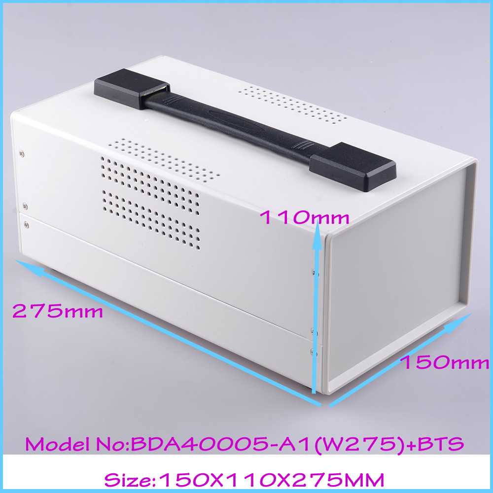 (1  )150x110x275 mm electrical box electrical cabinet steel aluminium enclosure  box for electronics instrument case outlet case 1 piece free shipping aluminium enclosure case aluminium extruded enclosure in silver color smooth surface silver color box