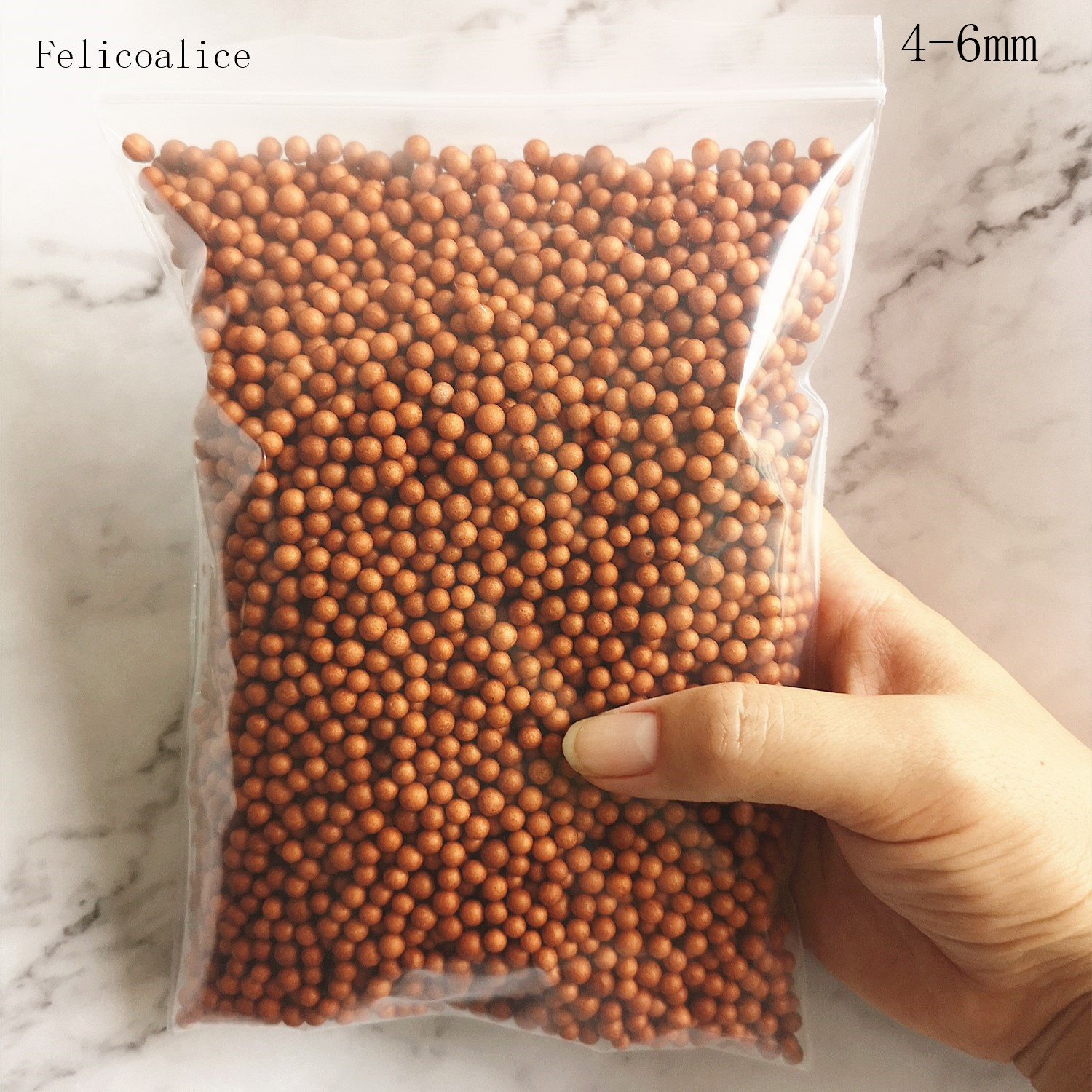 15g 4-6mm Coffee Brown Chocolate Foam Balls For Slime Beads Filler For Mud Particles Slime Accessories Antistress Toys