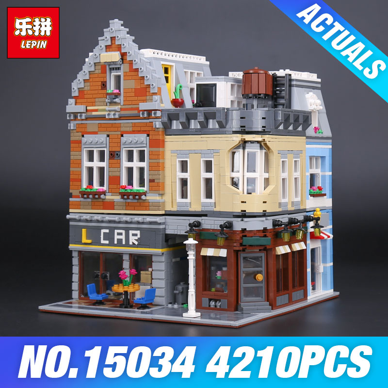 Lepin 15034 4210Pcs Genuine MOC Series The New Building City Set Building Blocks Bricks Educational Toy Model As Christmas Gifts the new jjrc1001 lepin city construction series building blocks diy christmas gift for kid legoe city winter christmas hut toy