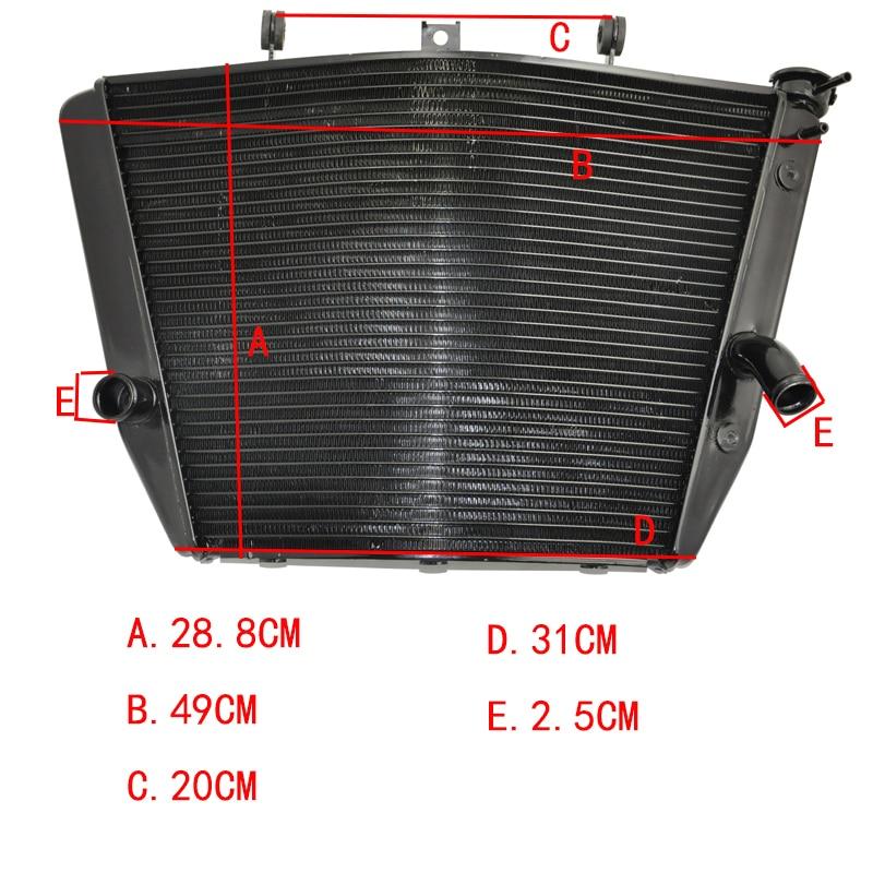 LOPOR Motorcycle Radiator for Suzuki GSXR1000 2005 2006 2009 2014 Aftermarket Engine Water Cooling Part