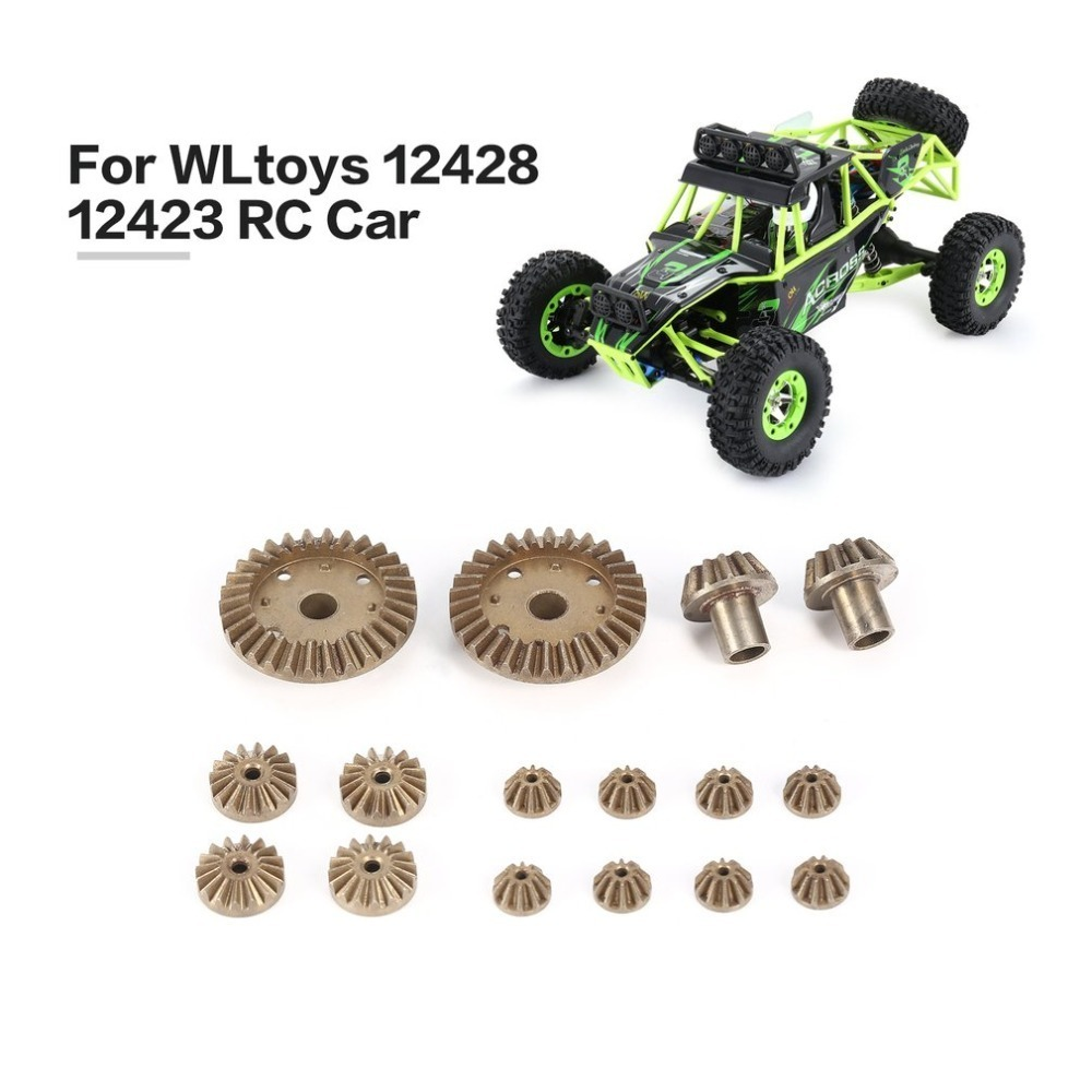 2T 24T 30T Motor Driving Gear/Metal Front Rear Differential Gear Upgrade Repair Parts for WLtoys 12428 12423 1/12 RC Car