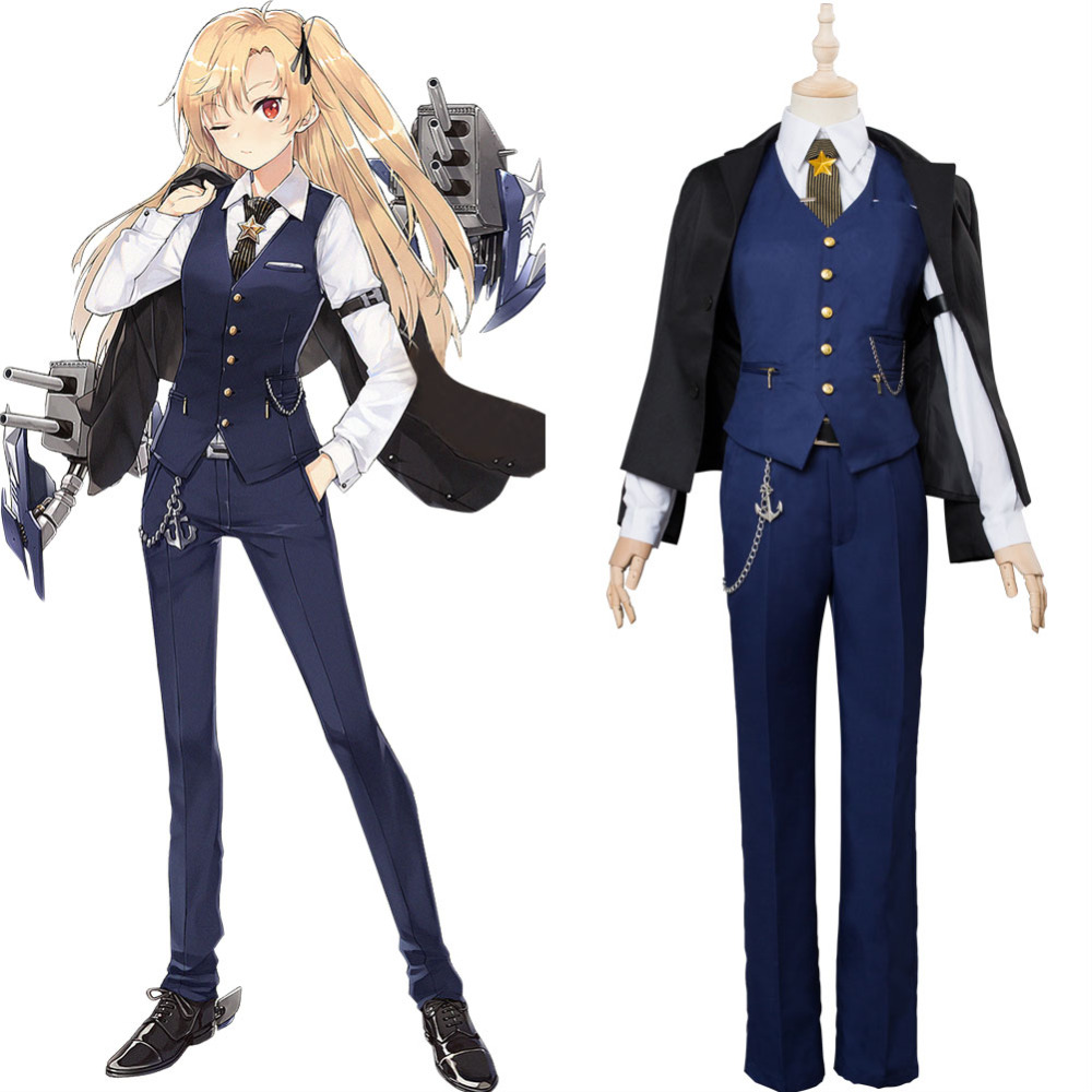 Game Azur Lane Cosplay Cleveland Knight Night Costume Uniform Women Men's Suit Halloween Carnival Costumes Outfit Custom Made