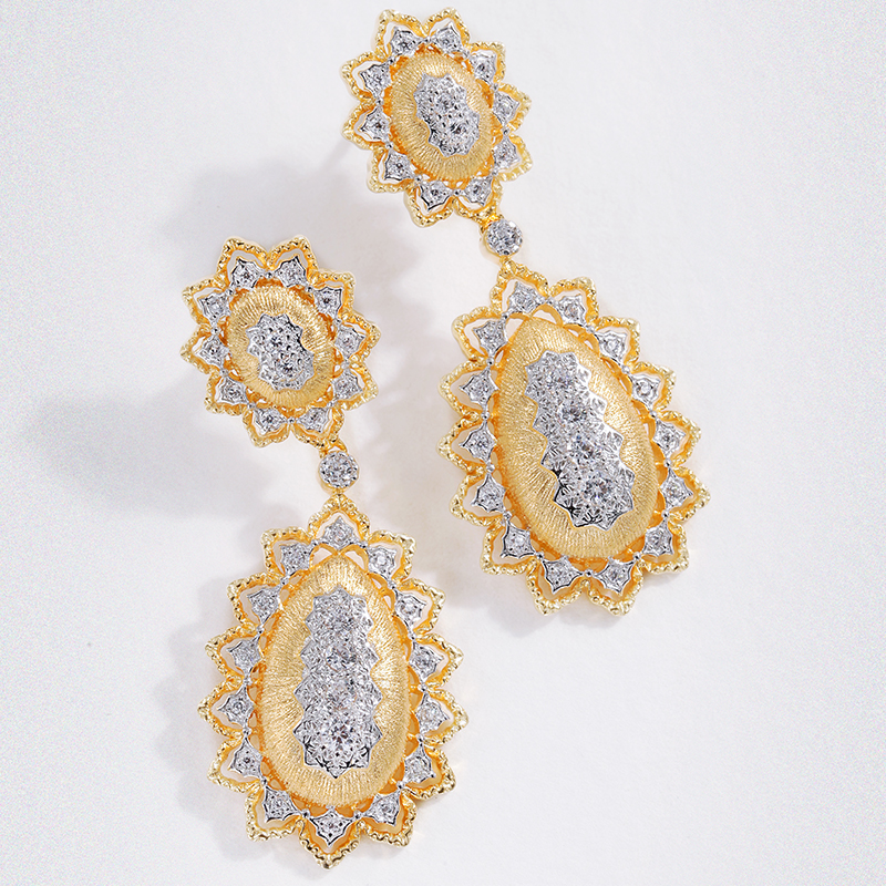 Здесь можно купить  925 Silver Zircon Ear Stud Jewelery Women European Court style vintage style  Ювелирные изделия и часы