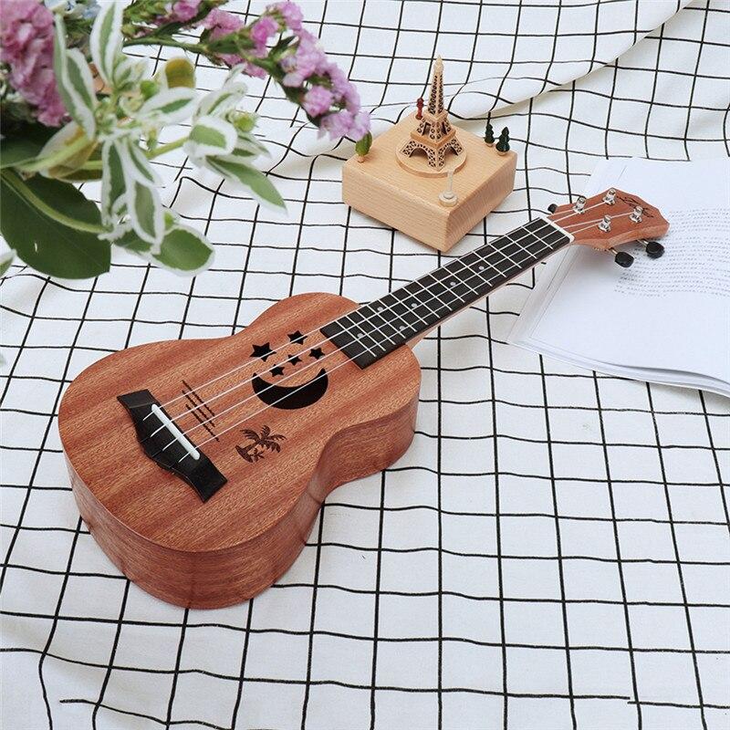 Dutiful Zebra 21 Sapele Star Pattern Ukulele 4 Nylon Strings Hawaii Mini Guitar Uke Fingerboard Rosewood Ukelele Music Instruments Musical Instruments Sports & Entertainment