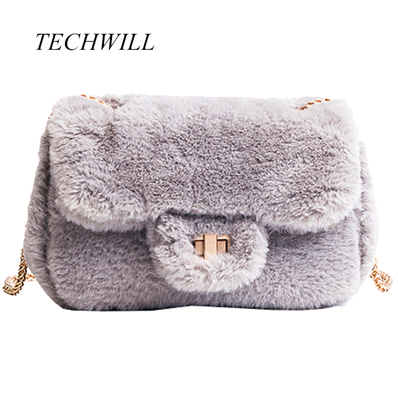 New Women Bags Autumn And Winter Rabbit Fur Women's Velvet Handbag Messenger Bag lady  Small Mini Casual Satchel Purses 2016 autumn and winter new casual waterproof nylon shell bag soft bag portable women shouid bags dd5023