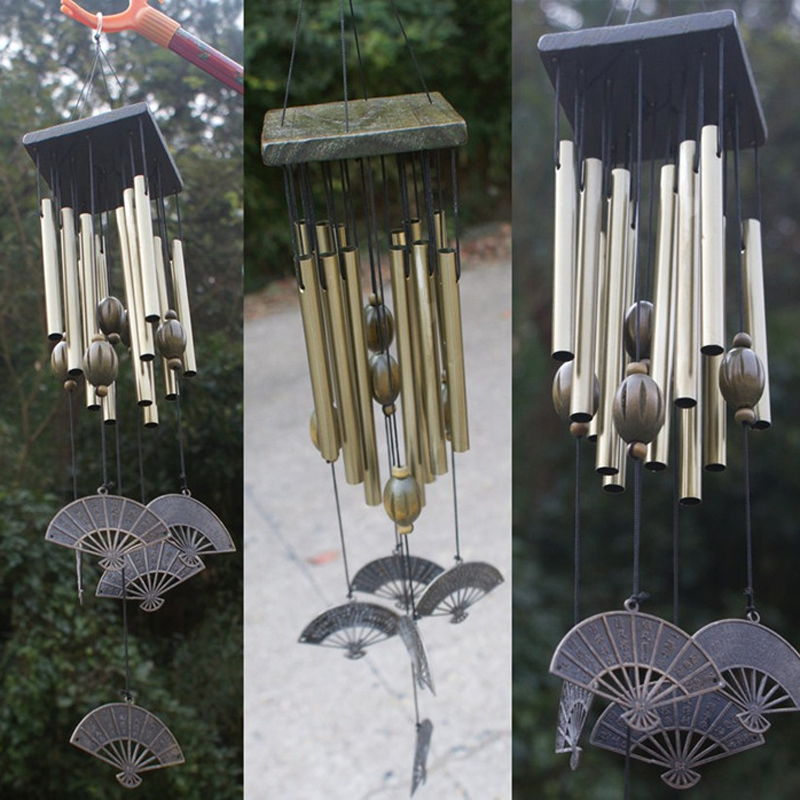 Amazing Wind Chimes Bells Copper 12 Tubes Windchime Outdoor Garden Home Decor