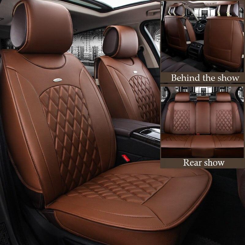 Новинка 2017 кожаные сиденья защитный чехол алмаз кожа подушка универсальная Чехол автокресла для BMW Focus peugeot vw и т. д..