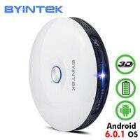 BYINTEK НЛО R11 Smart 3D 200 дюймовый Android Wi-Fi Беспроводной DLP видео Портативный светодиодный мини-проектор Поддержка Full HD 1080 P 2 K 4 K