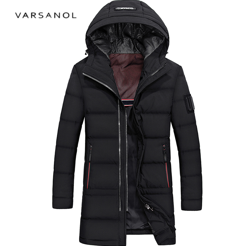 Realistisch Varsanol Mens Winter White Duck Down Jacket 2017 Hooded Plus Size Thicken Jacket Warm Zipper Outwear Pocket Long Sleeve Clothes Mutter & Kinder