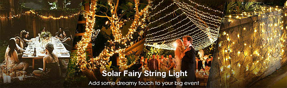 22M Christmas Lights Outdoor Solar Powered Garland Fairy Light for Street Backyard Decor Party 200 (6)