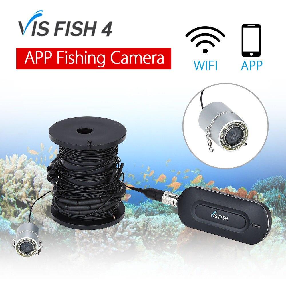 EYOYO VISFISH 4 Wirless APP Underwater Fishing Camera Fishfinder DVR Video Waterproof 90degree 1300mAh Ice Sea Boat Fishing